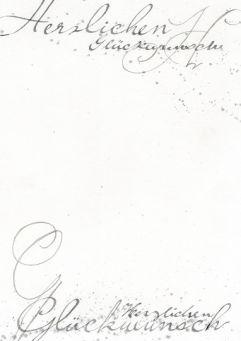 Kalligrafische Wünsche
