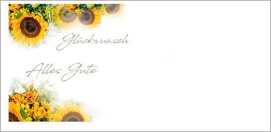 Sonnenblumenglück Kuvert ohne Fenster