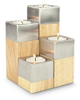 4er-Set Teelichter Luce