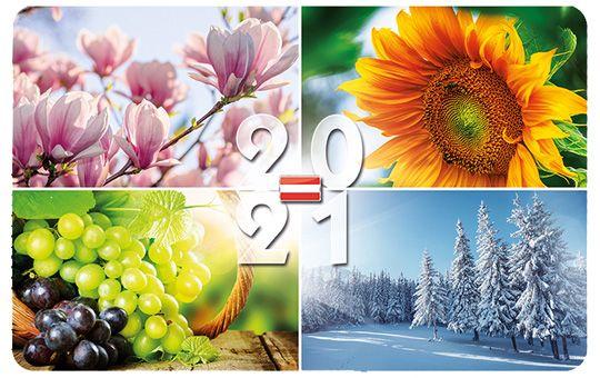 Scheckkartenkalender Österreich, neutral